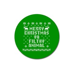 Ugly Christmas Ya Filthy Animal Magnet 3  (Round)