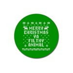 Ugly Christmas Ya Filthy Animal Magnet 3  (Round) Front