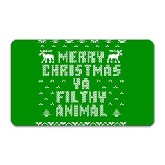 Ugly Christmas Ya Filthy Animal Magnet (Rectangular)