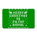 Ugly Christmas Ya Filthy Animal Magnet (Rectangular) Front