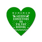Ugly Christmas Ya Filthy Animal Heart Magnet Front