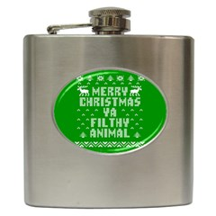 Ugly Christmas Ya Filthy Animal Hip Flask (6 oz)