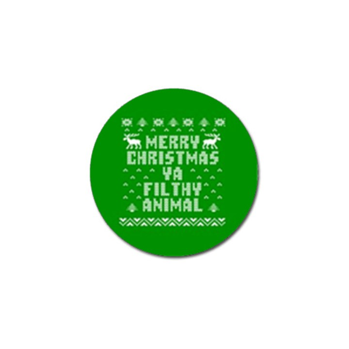 Ugly Christmas Ya Filthy Animal Golf Ball Marker (4 pack)