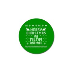 Ugly Christmas Ya Filthy Animal Golf Ball Marker (10 pack)