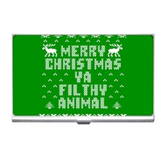 Ugly Christmas Ya Filthy Animal Business Card Holders