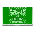 Ugly Christmas Ya Filthy Animal Business Card Holders Front