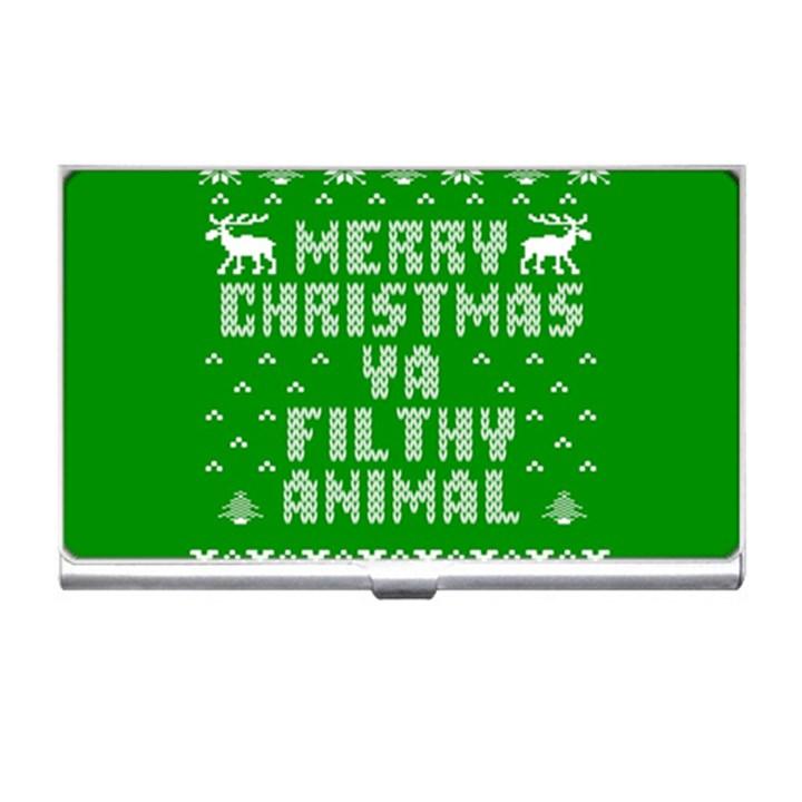 Ugly Christmas Ya Filthy Animal Business Card Holders