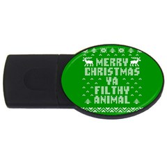 Ugly Christmas Ya Filthy Animal USB Flash Drive Oval (1 GB)