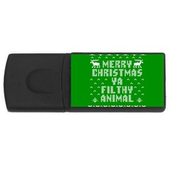 Ugly Christmas Ya Filthy Animal USB Flash Drive Rectangular (2 GB)