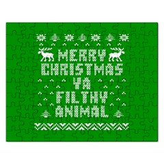 Ugly Christmas Ya Filthy Animal Rectangular Jigsaw Puzzl