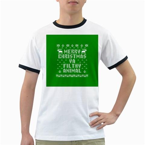 Ugly Christmas Ya Filthy Animal Ringer T-Shirts