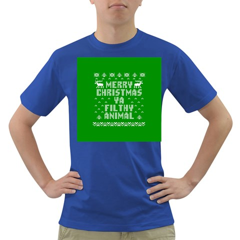 Ugly Christmas Ya Filthy Animal Dark T-Shirt