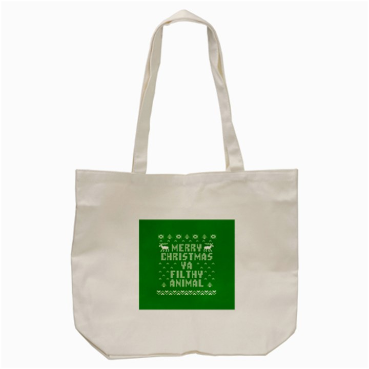 Ugly Christmas Ya Filthy Animal Tote Bag (Cream)