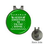 Ugly Christmas Ya Filthy Animal Hat Clips with Golf Markers Front
