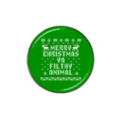 Ugly Christmas Ya Filthy Animal Hat Clip Ball Marker (10 pack)