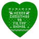 Ugly Christmas Ya Filthy Animal Jigsaw Puzzle (Heart) Front