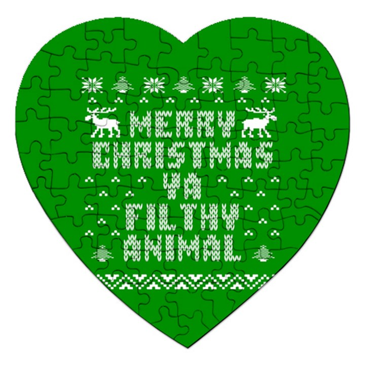 Ugly Christmas Ya Filthy Animal Jigsaw Puzzle (Heart)