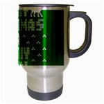 Ugly Christmas Ya Filthy Animal Travel Mug (Silver Gray) Right