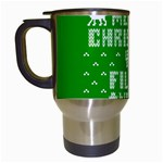 Ugly Christmas Ya Filthy Animal Travel Mugs (White) Left