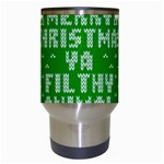 Ugly Christmas Ya Filthy Animal Travel Mugs (White) Center