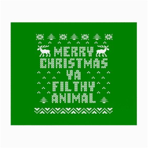 Ugly Christmas Ya Filthy Animal Small Glasses Cloth
