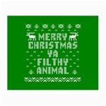 Ugly Christmas Ya Filthy Animal Small Glasses Cloth Front