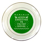 Ugly Christmas Ya Filthy Animal Porcelain Plates Front