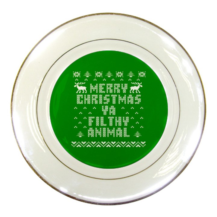 Ugly Christmas Ya Filthy Animal Porcelain Plates