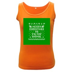 Ugly Christmas Ya Filthy Animal Women s Dark Tank Top
