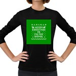 Ugly Christmas Ya Filthy Animal Women s Long Sleeve Dark T-Shirts Front