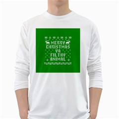 Ugly Christmas Ya Filthy Animal White Long Sleeve T-Shirts