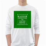 Ugly Christmas Ya Filthy Animal White Long Sleeve T-Shirts Front