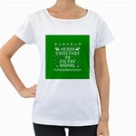 Ugly Christmas Ya Filthy Animal Women s Loose-Fit T-Shirt (White) Front