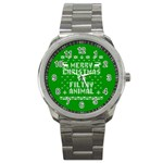 Ugly Christmas Ya Filthy Animal Sport Metal Watch Front