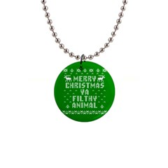 Ugly Christmas Ya Filthy Animal Button Necklaces