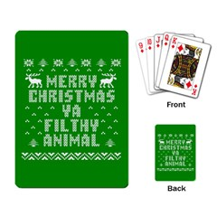 Ugly Christmas Ya Filthy Animal Playing Card