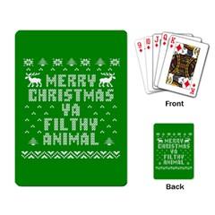 Ugly Christmas Ya Filthy Animal Playing Card
