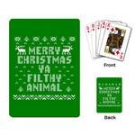 Ugly Christmas Ya Filthy Animal Playing Card Back