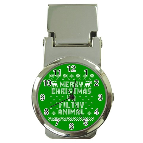 Ugly Christmas Ya Filthy Animal Money Clip Watches