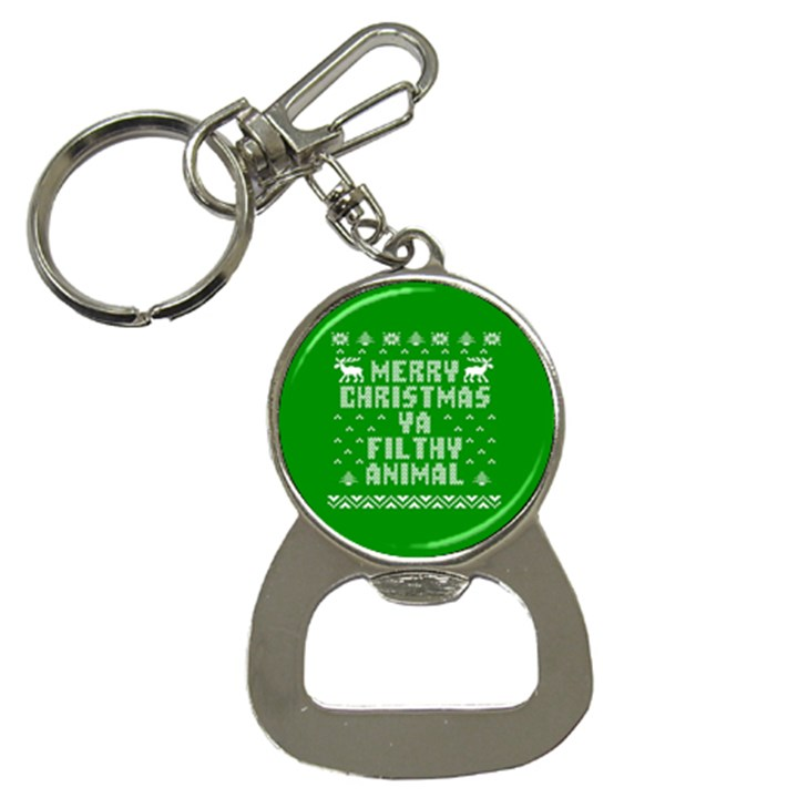 Ugly Christmas Ya Filthy Animal Bottle Opener Key Chains