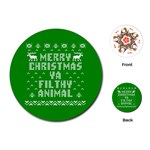 Ugly Christmas Ya Filthy Animal Playing Cards (Round)  Front