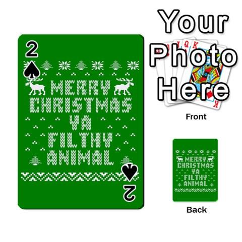 Ugly Christmas Ya Filthy Animal Playing Cards 54 Designs