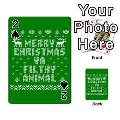 Ugly Christmas Ya Filthy Animal Playing Cards 54 Designs