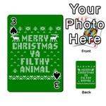 Ugly Christmas Ya Filthy Animal Playing Cards 54 Designs  Front - Spade3