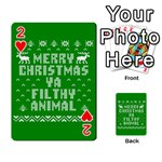 Ugly Christmas Ya Filthy Animal Playing Cards 54 Designs  Front - Heart2
