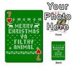 Ugly Christmas Ya Filthy Animal Playing Cards 54 Designs  Front - Heart7