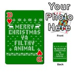 Ugly Christmas Ya Filthy Animal Playing Cards 54 Designs  Front - Heart10