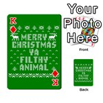 Ugly Christmas Ya Filthy Animal Playing Cards 54 Designs  Front - DiamondK