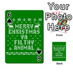 Ugly Christmas Ya Filthy Animal Playing Cards 54 Designs  Front - Spade6