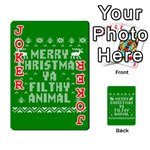 Ugly Christmas Ya Filthy Animal Playing Cards 54 Designs  Front - Joker2